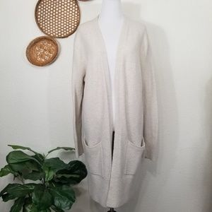 Madewell long open front cardigan M